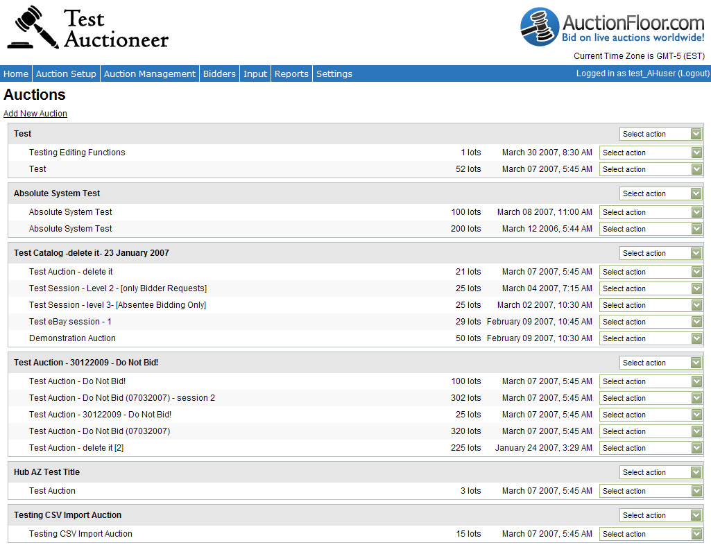 Manage Auctions