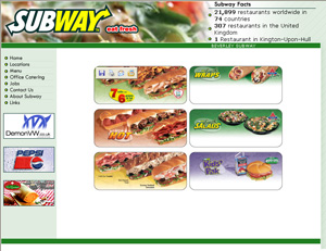 Subway - online order management for Subway fast-food restaurant