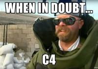 When in doubt... C4.