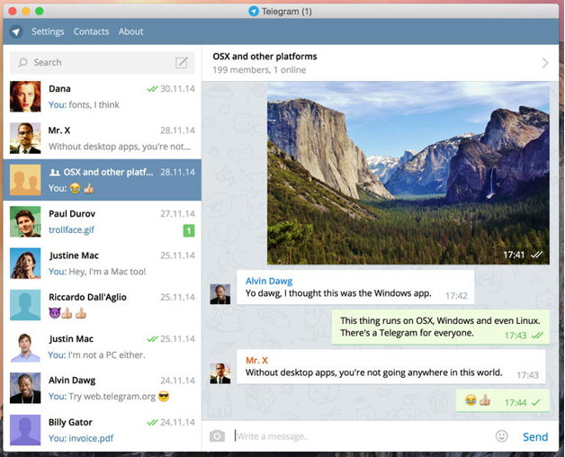 Telegram Messenger (Desktop)