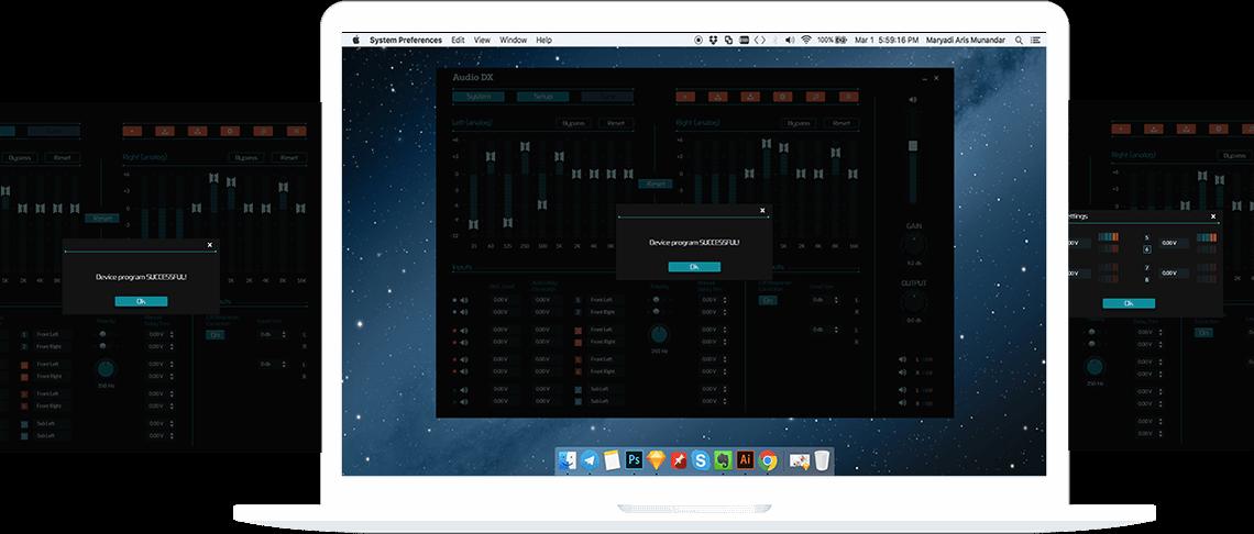 Application interface showcase