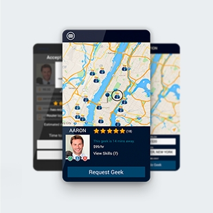 Uber-like app to find technicians
