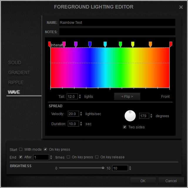 Gaming Keyboard Color Lighting Editor