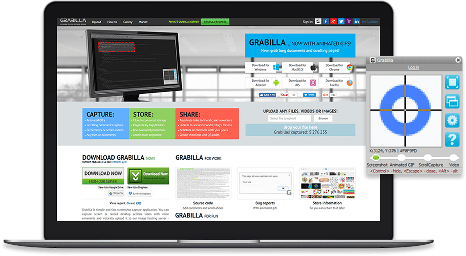 Grabilla the platform for instant file sharing